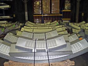 Lekki hangar łukowy TG Hangars - hale łukowe TG Buildings przygotowane do wysyłki.