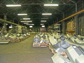 Lekki hangar łukowy TG Hangars - hale łukowe TG Buildings przygotowane do kontroli jakości.