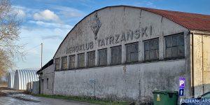 Lekkie samonośne hangary łukowe (arch prefabricated building) - lekki hangar łukowy TG Hangars dla General Aviation na lotnisku EPNT (Aeroklub Nowy Targ)